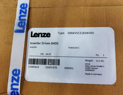 Lenze Inverter Drives 8400 E84AVSCE1834VXO 15485624 SW: 06.01 -unused/OVP- – Bild 2