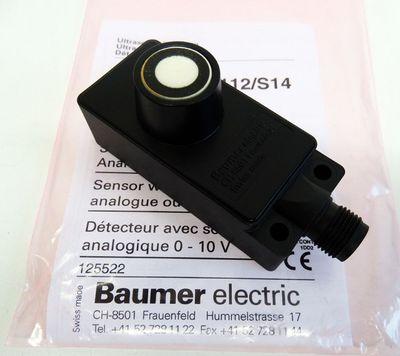 Baumer electric UNDK 30U6112/S14 Ultraschall-Sensor mit Analogausgang-unused/OVP – Bild 1