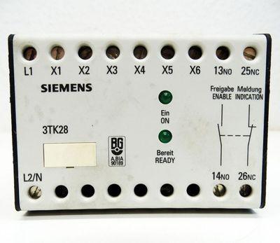 Siemens 3TK2802-0AG2 1S+1Ö 1NO+1NC 110VAC Sicherheitsschaltgerät -used- – Bild 2