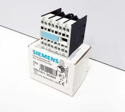 Siemens 3RH1911-2GA04 Hilfsschalterblock 4 Ö  E:05 - unused - in OVP – Bild 1