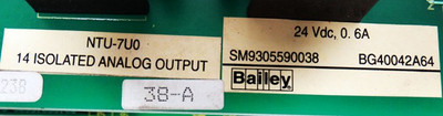 ABB Bailey NTU-7UO  NTU7UO 14 Isolated Analog Output -used in Box- – Bild 3
