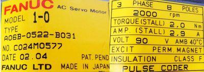 FANUC AC Servo Motor A06B-0522-B031  - unused - – Bild 3