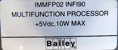 ABB Bailey infi90 IMMFP02  IMMFP 02 Multifunction Processor  -used - – Bild 4