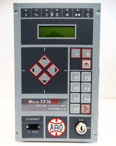 ARO Controls Micro 2X16 III 10T128P FlashMF ZAA7V3I9DPGS Schweißsteuerung -used  – Bild 4
