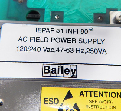 ABB Bailey infi90 IEPAF01 AC-Field-Power-Supply  - used - – Bild 4