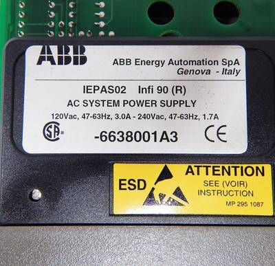 ABB Bailey infi90  IEPAS02 AC System-Power-Supply  - used - – Bild 4