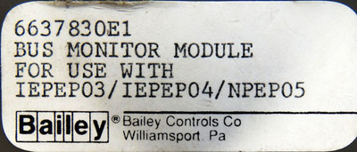 ABB Bailey infi90 Bus Monitor Module 6637830E1 -used- – Bild 3