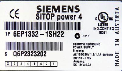 Siemens SITOP power 4 6EP1332-1SH22  6EP1 332-1SH22 E:1  24/4,0A -used- – Bild 3