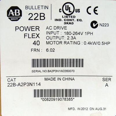 Allen Bradley PowerFlex 40 22B-A2P3N114 Ser. A 0.4kW/0.5HP -unused/OVP- – Bild 2