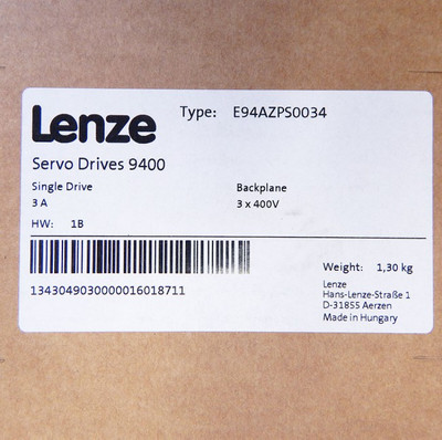 Lenze E94AZPS0034 Servo Drives 9400  Backplane/Montagesockel  - unused - in OVP – Bild 3