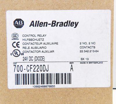 Allen Bradley  700-CF220DJ  Ser:A Control Relay 24V DC (Diode) - unused - in OVP – Bild 4