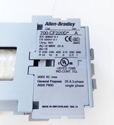 Allen Bradley  700-CF220DJ  Ser:A Control Relay 24V DC (Diode) - unused - in OVP – Bild 3