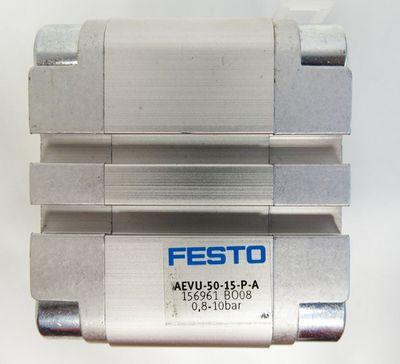 Festo AEVU-50-15-P-A  156961 0,8-10 bar Kompaktzylinder -unused- – Bild 3