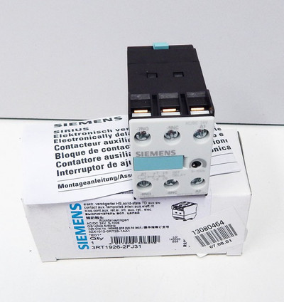 Siemens 3RT1926-2FJ31 Delay switching OFF-Module E:01 -unused - in OVP – Bild 1