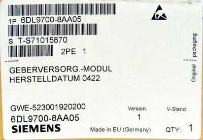 Siemens 6DL9700-8AA05 Geberversorg.-Modul E-Stand: 1 -unused/OVP- – Bild 3