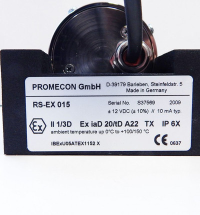 Promecon RS-EX 015 EXII1/3D Receive Sensor 0°C-100/150°C 12VDC -unused- in OVP – Bild 2