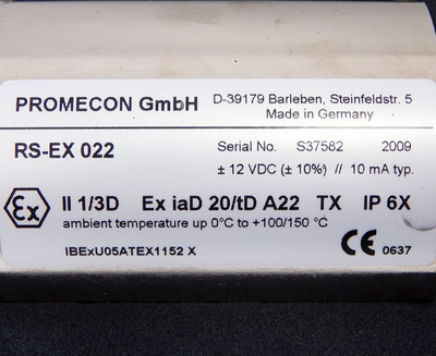 Promecon RS-EX 022 EXII1/3D Sensor 100MHz -1,6GHz 0°C-100/150°C  -unused- in OVP – Bild 3