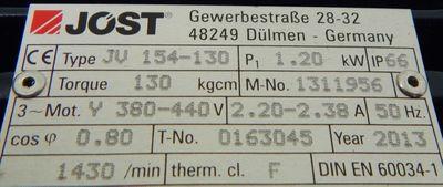 Jöst 154-130 1,20 kW Vibrationsmotor Rüttelmotor - unused - – Bild 3