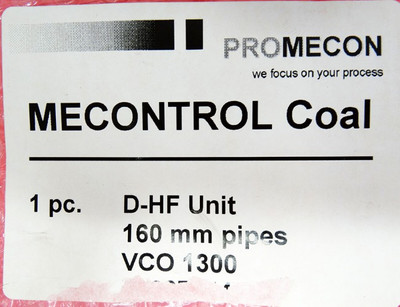 Promecon Mecontrol Coal D-HF Unit MEC-D-HF 160 mm pipes VCO 1300 -unused- – Bild 3