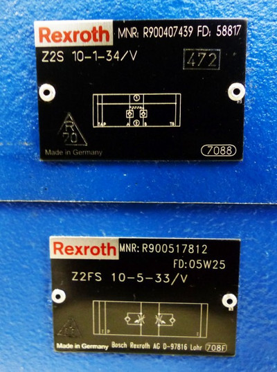 Rexroth Z2S 10-1-34/V + Z2FS 10-5-33/V + 4WE 10J33 + Sulzer APL 10 -used- – Bild 2
