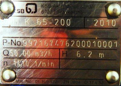 KSB Pumpe  KWP K 65 - 200 Kreiselpumpe - used - – Bild 3