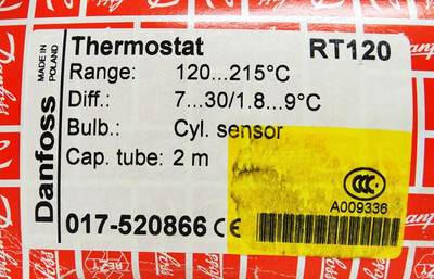 Danfoss RT120 120 - 215°C 017-520866 Cap.tube. 2mtr. Thermostat -unused/OVP- – Bild 3
