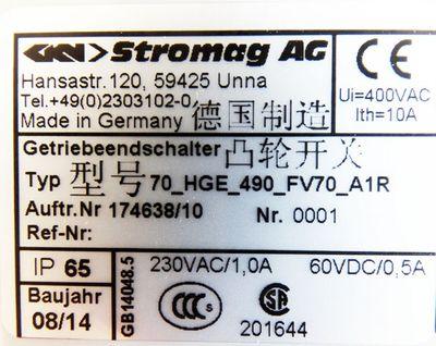 Stromag AG 70_HGE_490_FV70_A1R 70HGE490FV70A1R Getriebe Endschalter -unused/OVP- – Bild 3