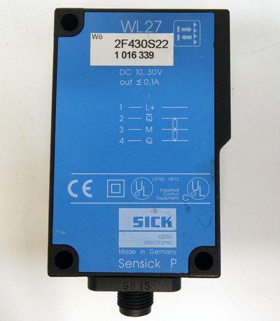 SICK Sensick P WL27-2F430S22 WL272F430S22 1016339 Reflex-lichtschranke -used- – Bild 2