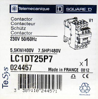 Telemecanique LC1DT25P7 5,5KW 400V 7,5HP 480V Contactor Schütz -unused/OVP- – Bild 3