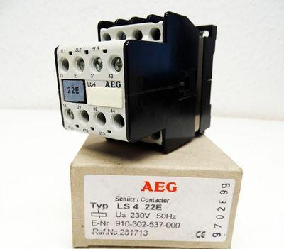 AEG LS4.22E  LS422E LS4-22E 251713 230V 50Hz Contactor Schütz -unused/OVP- – Bild 1