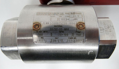 ARGUS BK8 PN100 DN20 SS/SS-SS-NBR Blockkugelhahn + Hahnschlüssel -unused- – Bild 2