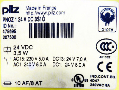 Pilz PNOZ1 24VDC 3S10 PNOZ124VDC3S10 Id.475695 Sicherheitsrelais -used- – Bild 3
