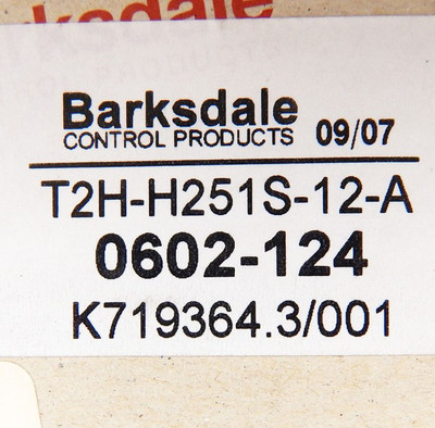 Barksdale T2H-H251S-12-A Remote-Mount-Temperature-Switch  - unused - in OVP – Bild 4
