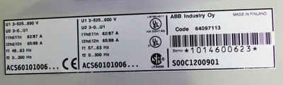 ABB ASC600 ASC601-0100-6 ASC60101006 S00C1200901 87A -used/Frontcover gebrochen- – Bild 2