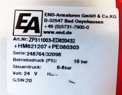 END-Armaturen ZP311003-ED620432 + HM621207 + PE080303 DN20 -unused-  – Bild 4
