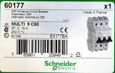 Schneider Electric Multi9 C60  60177 3P C10A Leitungsschutzschalter -unused/OVP- – Bild 3