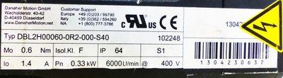 DANAHER Motion DBL2H00060-0R2-000-S40 Servo-Motor -used- – Bild 2