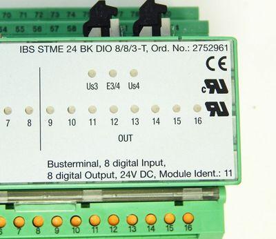 Phoenix Contact Basis No:2750798 & IBS STME 24 BK DIO8/8/3-T No: 2752961  -used- – Bild 3