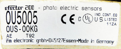 Ifm Electronic efector200 OU5005 OUS-OOKG Photo electric sensor -unused/OVP- – Bild 3
