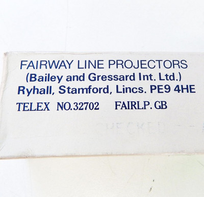 Fairway Line Projector Lamp 10V DC 3,5A - unused - in OVP – Bild 3