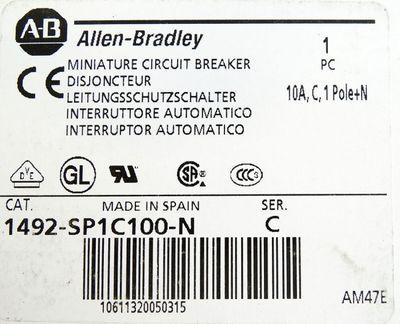 Allen Bradley 1492-SP1C100-N Ser. C Leitungsschutzschalter -unused/OVP- – Bild 3
