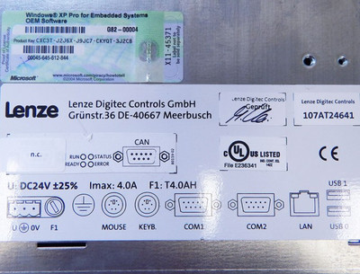 "Lenze Digitec Controls 107AT24641 15"" Touch Panel-PC incl. USV  - used - – Bild 5"