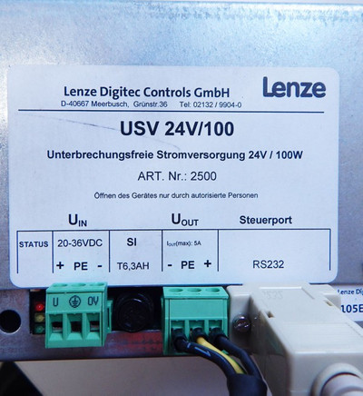 "Lenze Digitec Controls 107AT24641 15"" Touch Panel-PC incl. USV  - used - – Bild 4"