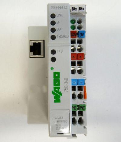 WAGO 750-340  750340 Profinet IO Device Feldbuskoppler -used- – Bild 2