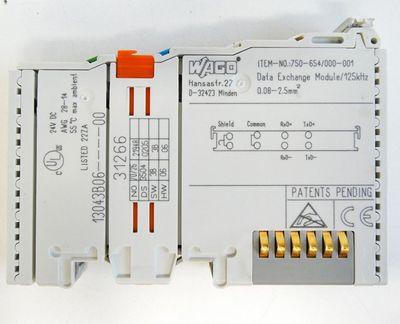 WAGO 750-654/000-001 Datenaustausch Klemme/ Data Exchange Module 125KHz -used- – Bild 2