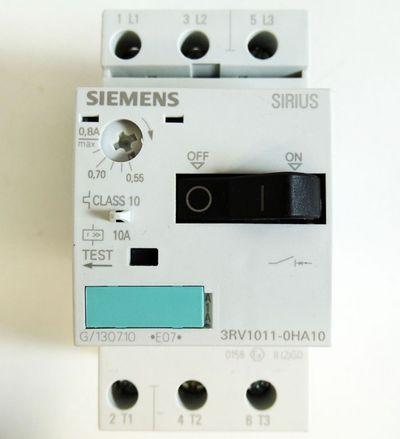 Siemens 3RV1011-0HA10 3RV1 011-0HA10 E:7 0,55-0,8A Leist.schalter -unused/OVP- – Bild 2