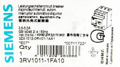 Siemens 3RV1011-0FA10 3RV1 011-0FA10 E: 07 Leistungsschalter -unused/OVP- – Bild 3
