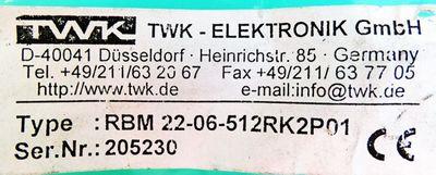 TWK Elektronik RBM22-06-512RK2P01 Winkelcodierer Absolute Encoder -unused- – Bild 3