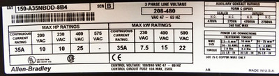 Allen Bradley SMC PLUS 150-A35NBDD-8B4 3Ph 208-480 35A Motorsteuerung -used- – Bild 3