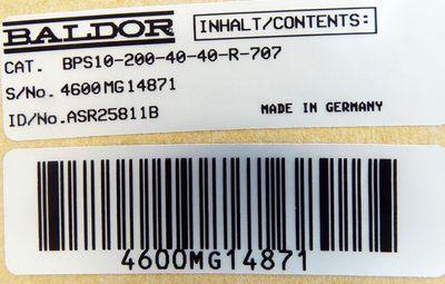 BALDOR BPS10-200-40-40-R-707 Id. ASR25811B Servoverstärker -unused/OVP- – Bild 3